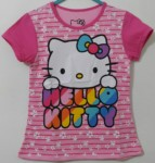 kaos hello kitty bunga salur pink 1-6, disney