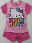 setelan hello kitty flower salur pink
