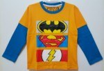 kaos lengan panjang batman superman flash logo 1-6, marvel