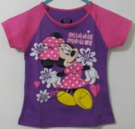 kaos minnie mouse flower ungu 1-6, disney