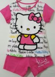 setelan hello kitty cute peace raglan pink 1-6,disney