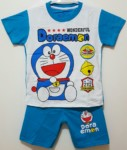 setelan doraemon wonderful cute biru 1-6, disney