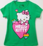 kaos hello kitty love hijau 1-6, disney