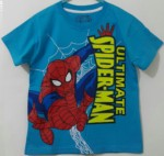 kaos spiderman ultimate biru marvel 1-6,marvel