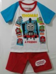 setelan thomas n friends raglan biru 1-6,thomas friends