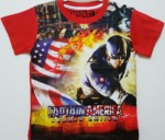 kaos anak captain america heroes united red 1-6, marvel