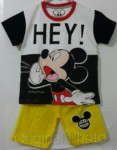 setelan mickey hey white black 1-6,disney