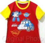 kaos anak robocar poli red 1-6, disneys