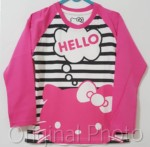 lengan panjang pink salur hello kitty 1-6, disneys
