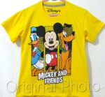 kaos anak mickey n friends kuning 1-6, disneys