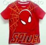 kaos spiderman new motif red 1-6, marvel (grosir baju anak )
