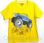 kaos oshkosh monster truck yellow 1-6, oshkosh ( grosir baju anak)