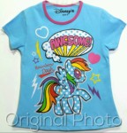kaos little pony new blue awesome 1-6, disneys ( GROSIR BAJU ANAK)