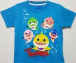 kaos baby shark biru 1-6, grosir baju anak