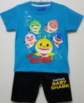 setelan baby shark biru 1-6, grosir baju anak