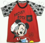 kaos raglan mickey rock music 1-6, disneys grosir baju anak