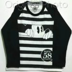 kaos mickey salur black panjang 1-6, disneys ( grosir baju anak)
