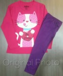 piyama kucing cute pink 1-6, oshkosh. grosir baju anak