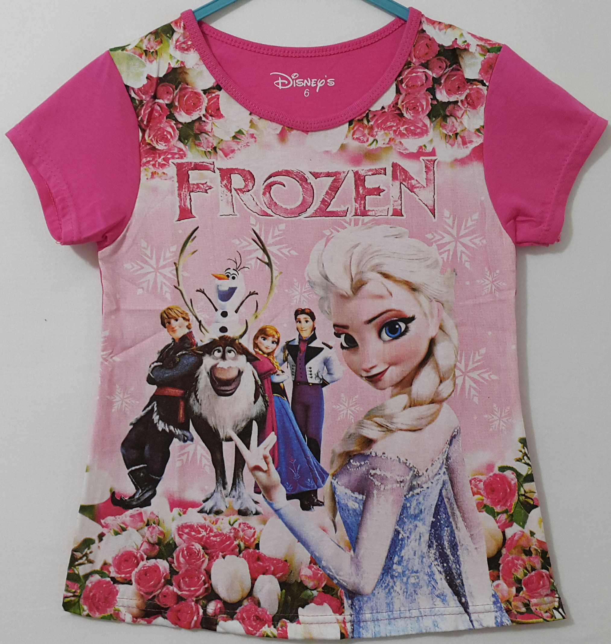 Kaos Frozen Together Printing 1 6 Disney Grosir Eceran